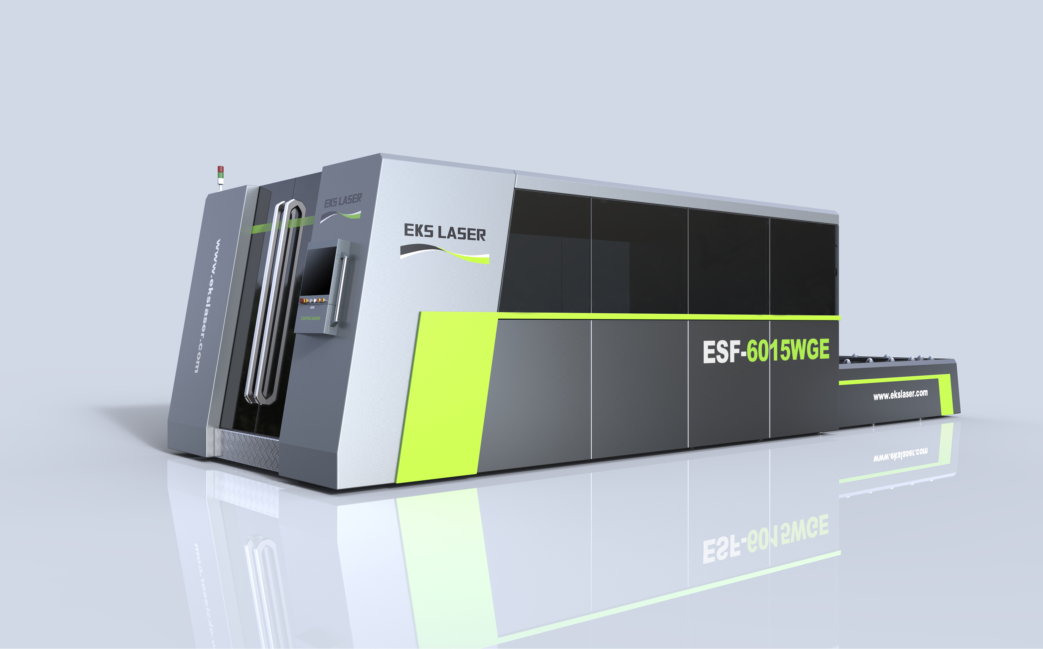 Surrounding type dual-platform laser cutting machine for advertising industry