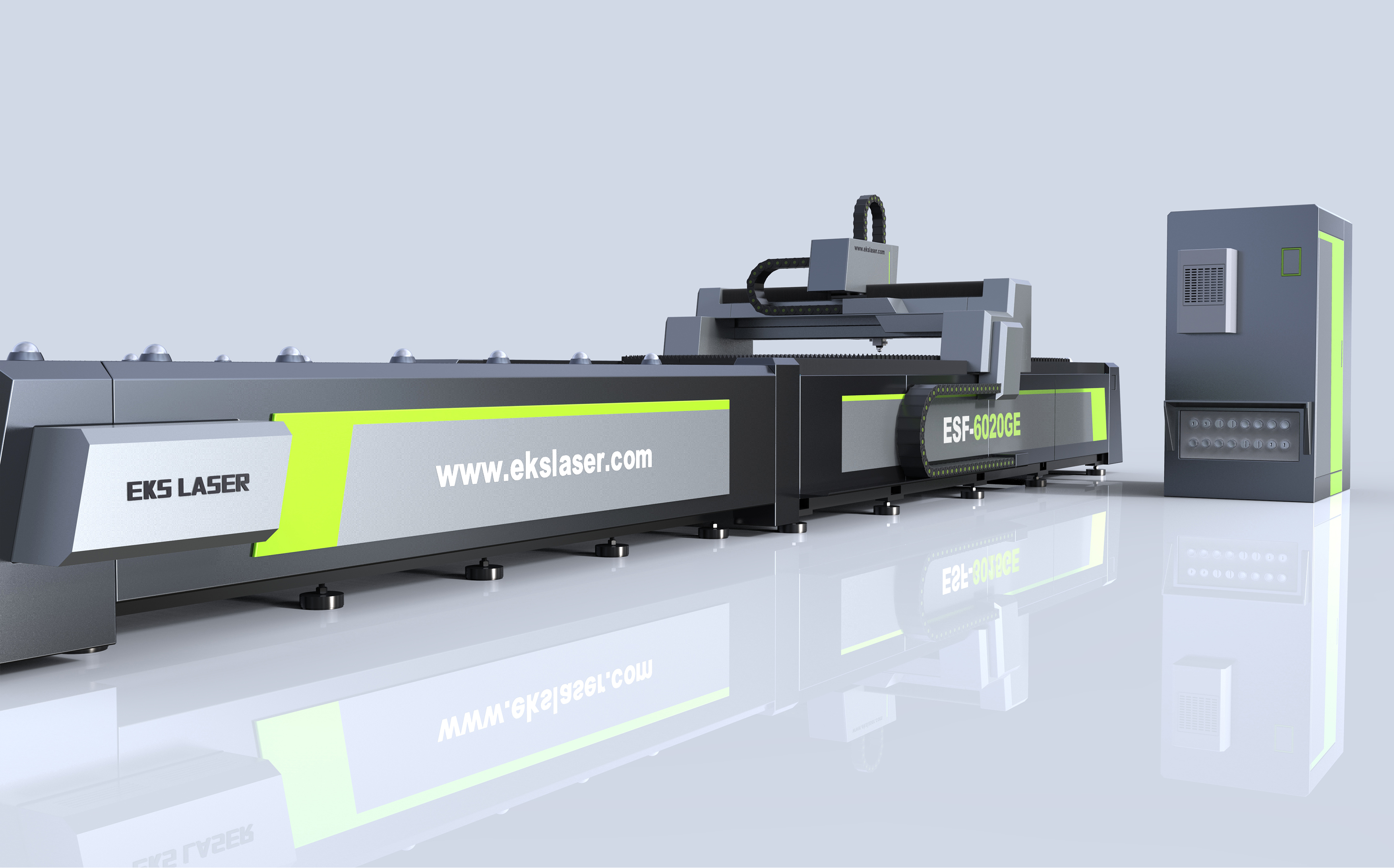 High-precision open double-platform metal laser cutting machine