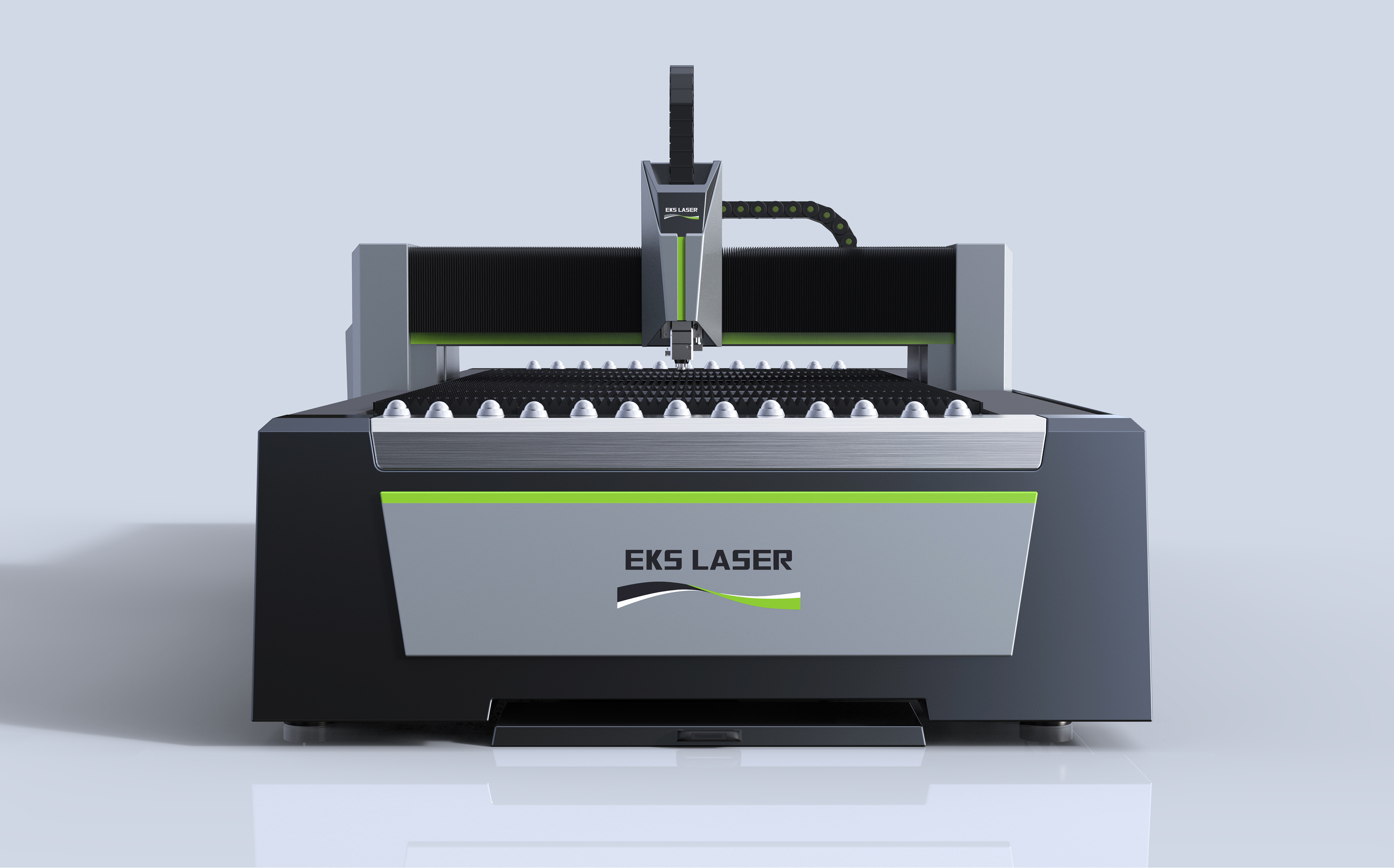 Large format high efficiency precision fiber laser cutting machine