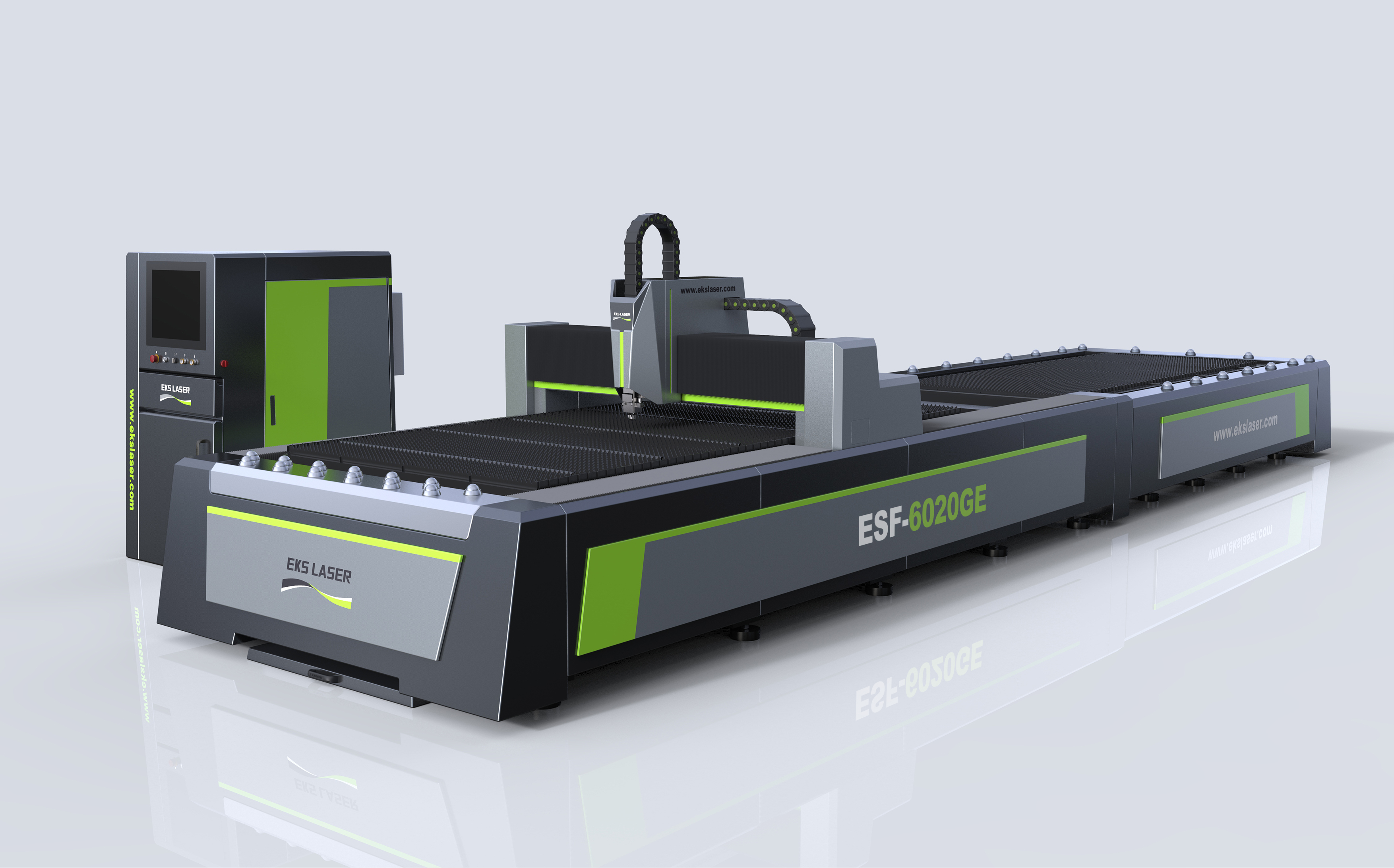 High efficiency large format double platform steel plate laser cutting machine