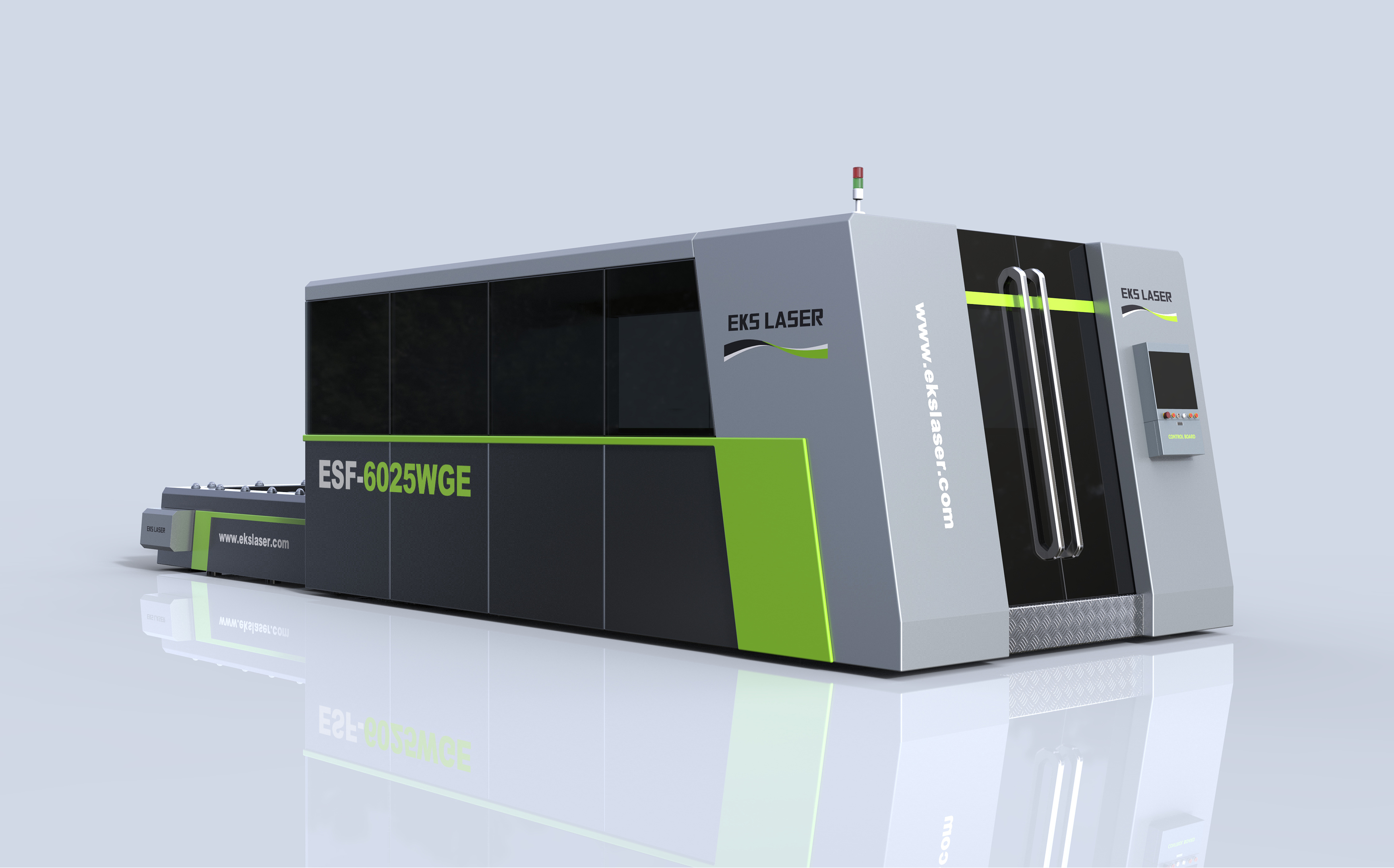 Surrounded double-platform fiber laser cutting machine with stable quality